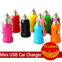 Wholesale Usb Car Charger Mini S3 - Bullet Mini USB Car Charger for iPhone Samsung Galaxy S3 S4 S5 Note 3 HTC Sony Universal Charger Adapter Free DHL 1000pcs