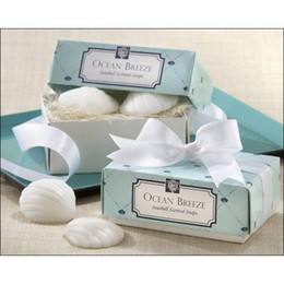 """Wholesale Wedding Shower Soap Favors - Free Shipping """"Sea Shells Shape"""" Scented Soap for Wedding Favor and Gifts or Baby Shower Favors 2pcs box Wedding Gifts Wedding Soaps"""