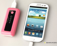 Wholesale External Power Source - Wholesale - 3000mah Emergency pocket USB Bank Power Source Supply Portable External Battery Charger Blue Rose Red Pink Black White With LED