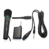 Wholesale Computer Phone Systems - S5Q 2in1 Wired Wireless Handheld Microphone Mic Receiver System Undirectional AAADEG