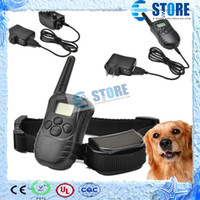 Wholesale Display Vibration - (1dog) 300M 100LV Shock Rechargeable and Waterproof Dog Training Collar no barking collar with LCD Display,wu