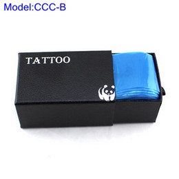Wholesale Clip Cord Bags - 100pcs Plastic Blue Tattoo clip cord Sleeve Cover Bags For Protect Tattoo Clip Cord Supply CCC-B#