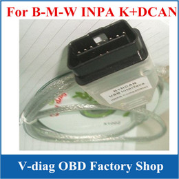 Wholesale K Interface - NEW CAR K+CAN K+ DCAN USB interface INPA CABLE for BMW inpa compatible Coder Scanner Reader 5pc lot