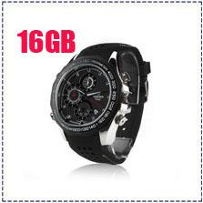 Wholesale Dvr Watch Tf - Free Shipping V6000 16GB Full HD 1920*1080P V6000 IR Night Vision Spy DVR Waterproof Spy Watch Camera With Motion Detection Support TF Card