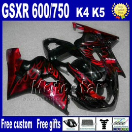 gsx r fairing NZ - Motorcycle fairings for SUZUKI GSXR 600 750 2004 2005 red flames High grade fairing body kits K4 GSX-R 600 750 04 05 Fb73