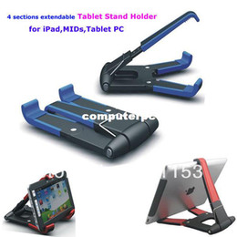 Stands For Tablet Pc Canada - Good quality Table Tablet Holder 4 sections extendable Tablet PC Stand Holder for iPad MIDs Clamp Holder with 5 colors option