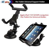 Wholesale Tablet For Gps Navigation - free shipping for 7' 8' 9' 10' inch GPS navigation flat computer tablet PC car universal support holder bracket stands trestle