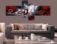 abstract Modern Oil Painting Huge Canvas Art Sets On Canvas ...