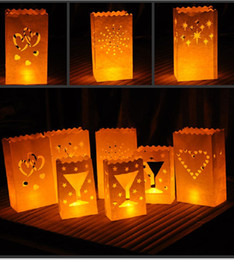 Wholesale New Designs Candle Holders - Fashion Hollow Paper Lantern Tea Candle Bags For Birthday Party Supplies Wedding Decoration New Styles Design