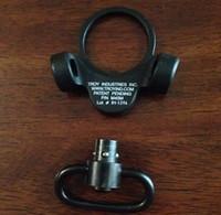Wholesale qd swivel mount - Troy Dual Side QD Sling Swivel Full Steel Mount Attachment For GBB Black Free Shipping