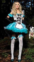 Wholesale Classic Maid Costume - Sexy woman Division fantasy Alice White princess dress tutu dress maid outfit maid dress Halloween costumes Cosplay