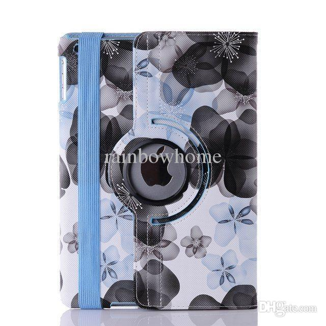 Rotary 360 Degree Rotating Crocodile Pattern Lucky Flower PU Leather Cover Case for ipad Mini 6 5 1 2 3 4 Air 2 New ipad 9.7 2017