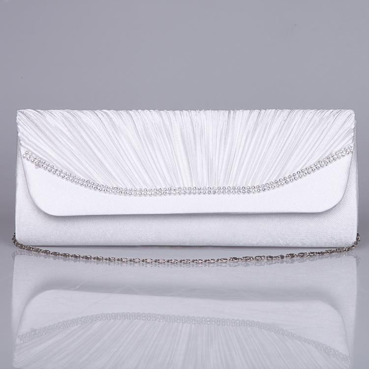Cheap In Stock White Bride Purse Fashionable Hand Bags Party ...
