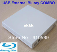 Wholesale Combo Player - Free 3D Glass+ shipping USB 2.0 External blu-ray blu ray player BLU RAY Combo BD-ROM Brand New External 6x BD-ROM DVD-RW Drive