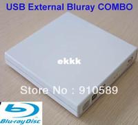 Wholesale External Usb Dvd Combo Drive - Free 3D Glass+ shipping USB 2.0 External blu-ray blu ray player BLU RAY Combo BD-ROM Brand New External 6x BD-ROM DVD-RW Drive