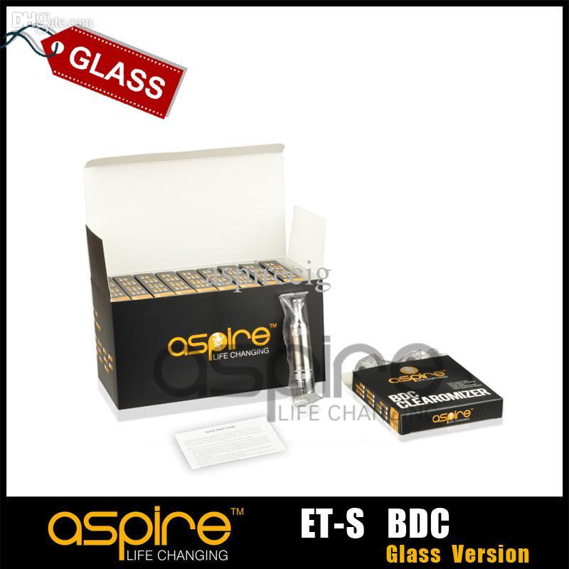 Commercio all'ingrosso - originale Aspire ET-S BDC Atomizzatore aspira fondo doppia bobina Cartomizer 3.0ml BDC ET-s versione in vetro Clearomizer sigaretta ego