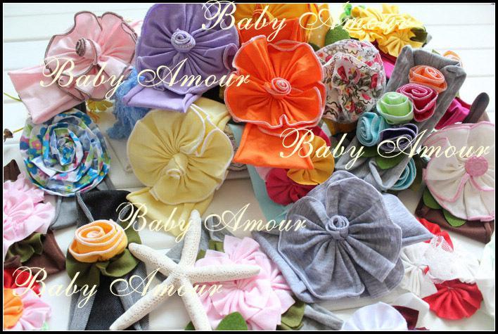 Top Baby Crochet Flower Hair Bow Clips Headband Barrille Caps Baby Headdress Hoody Flower Hair Bow