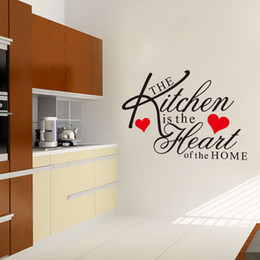 2018 Kitchen Wall Word Art Decals The Kitchen Is The Heart Of The Home Wall  Quotes