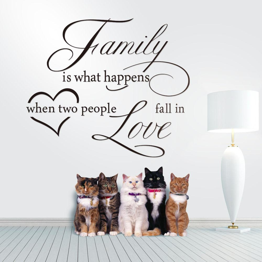 Large Size Family And Love Vinyl Art Quotes Removable Wall Decal Sticker  Decor Living Room And Bedroom 2014 New Arrival Children Wall Decals  Children Wall ... Part 94