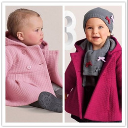Wholesale Quilted Jacket Girl - Retail Spring Autumn Baby Girls Coat Children Cotton Lining Jacquard Baby Coat Jacquard Lining Quilted Hooded Jacket Kids Outwear