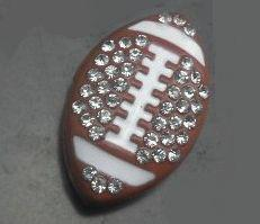 Wholesale Rhinestone Football Slide - 100pcs lot 8mm Rhinestones American football   Rugby sport slide charm fit 8mm wristband bracelet diy jewelry findings