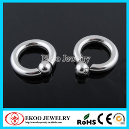 Wholesale Wholesale Body Piercing China - Giant Spring Load Captive Ring Wholesale Body Jewelry in China Free Shipping