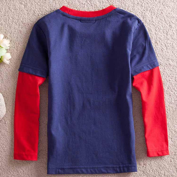 Bombeiro Sam Salvando O Dia 100% algodão Meninos de Manga Longa camisetas Crianças roupas de bebê camisa primavera outono desgaste