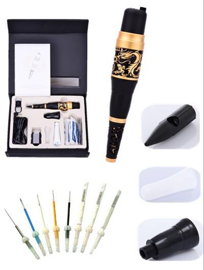 Livraison gratuite aiguilles à 3 dents rondes pour une boucle de maquillage permanente ajustement sur machine à tatouer Dragon