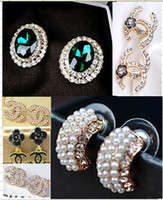Wholesale Diamond Stud Drop - 8%off!2014 new arrivals!hot sale!Fashion!Diamond!Rhinestones!Ms long section of alloy earrings!DROP SHIPPING!high quality!12pairs 24pcs.WX