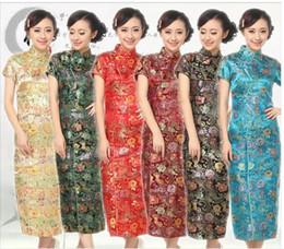 Wholesale Standard Dress China - Wholesale Traditional China Women's Dress Skirt Ten buckle Cheong-sam size S-XXL