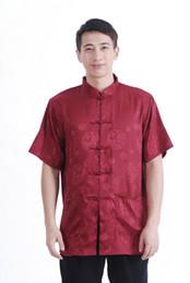 Silk Dress Shirts Canada - Shanghai Story chinese traditional clothing for men chinese traditional shirt kung fu shirt mandarin collar faux silk shirt for men