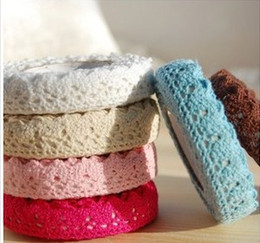 Wholesale Cotton Lace Tape Fabric - Wholesale - Cotton Lace Roll Ribbon Knit Adhesive Tape Sticker Craft Decoration Fabric