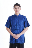 Wholesale Ethnic Clothes Men - Free shipping New Sale men Tang Top traditional chinese clothing men Ethnic Clothing chinese traditional clothes kung fu shirt M2066