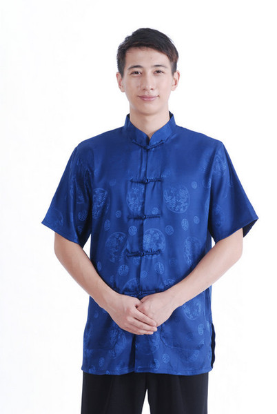 best selling Free shipping New Sale men Tang Top traditional chinese clothing men Ethnic Clothing chinese traditional clothes kung fu shirt M2066