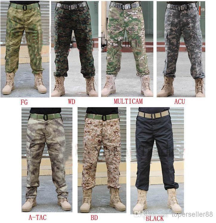 Angeln Bdu Lange Combat Beiläufige Hosen Camouflage Soldat Jagd Trainer Trouse Für Taktische Überleben Swat Paintball Uniform Airsoft D9YeWIE2H