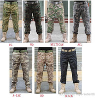 Wholesale army full combat uniform online - Tactical casual swat BDU Combat Uniform long Pants for Airsoft Paintball Soldier Trainer Survival Hunting Fishing Camouflage Trouse