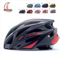 Wholesale Helmet Moon Bike - Moon riding helmet bike helmet integrated mountain bike helmets safety helmet cycling equipment top sale free shipping