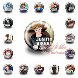 Wholesale Wholesale Toys For Party Bags - 18Pcs Justin Bieber Tin Buttons pins badges,30MM,Round Brooch Badge For clothing & Bags ,Mixed 18 Styles,Kids Party Favor