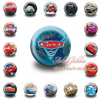 Wholesale Favor Tins Free Shipping - Free Shipping,18Pcs Cars Tin Buttons pins badges,30MM,Round Brooch Badge For Children Toy ,Mixed 18 Styles,Kids Party Favor