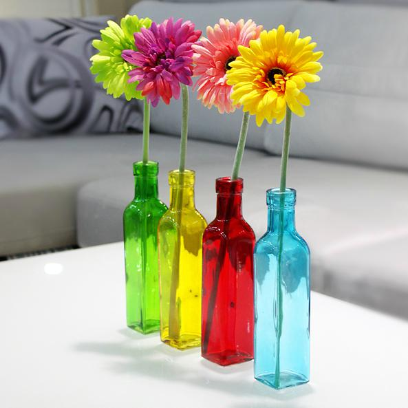 European Glass Bottle Flower Vase Fashion Small Glass Vases For