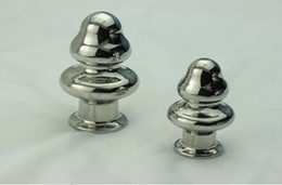 Wholesale Small Jeweled Plug - New Arrival A532 Mushroom Anal plug Stainless Steel Attractive Butt Plug Jewelry Jeweled Anal Plug Rosebud Anal Jewelry Large Small Mushroom