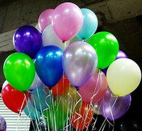 "Wholesale Party Supplies - Shinning 12 Colors 10"" Round Party Balloon Wedding Balloon Decoration Balloon Party Supplies 100pcs lot Q1401"