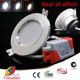 Wholesale Led Recessed Ceiling Light Color - Color Changeable-3W 4 inch LED Downlights+Power Supply 110-240V Fixture Recessed Ceiling Down Lights Cool+Warm+Pure White In one Model CSA