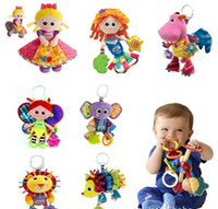 Wholesale Lamaze Toys 5pcs - 5pcs Lamaze Toy Crib toys Owl Rattle teether Infant Early Development Toy Stroller Music Baby Doll Toys
