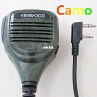 Wholesale Wouxun Mic - 3pcs Free shipping ! Camo Mic TK plug 2pin 11mm Handheld Microphone Shoulder Speaker for walkie Baofeng QUANSHENG Wouxun UV-5R