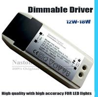 ledli sürücü kısılabilir toptan satış-LED ışık dim sürücü 12W 18W Downlight LED Karartma trafo LED panel için yüksek kalite ve doğruluk kısılabilir / Aşağı ışık / Tavan