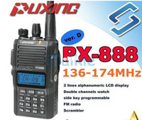 Wholesale Commercial Radios - PUXING PX-888 VHF 136-174 MHz Amateur two way radio walkie talkie transceiver best for hotel,commercial,security use