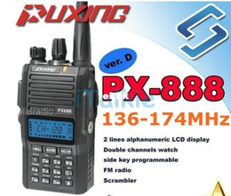 Wholesale Security Radio Walkie Talkie - PUXING PX-888 VHF 136-174 MHz Amateur two way radio walkie talkie transceiver best for hotel,commercial,security use