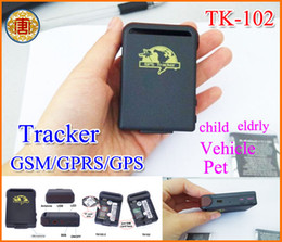Wholesale Gsm Old - Mini GPS Tracker Spy Car GPS Tracker TK-102 Mini Global Real Time Car Old People Children Pets Smallest GSM GPRS GPS Tracker Tracking Device