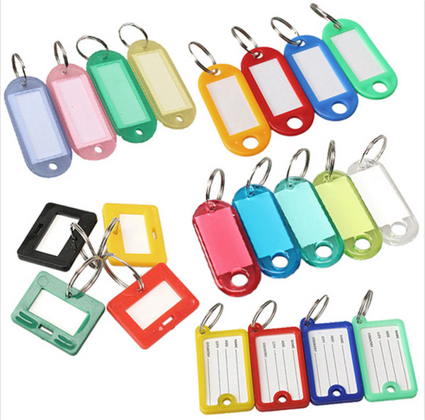 best selling Plastic Key Tags Keychain ID Label Name Key Tags Split Ring Different Style Christmas Gift C1241